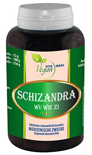VEGAN Schisandra - Früchte Pulver ( Schizandra Wu Wie Zi ) 120 pflanzliche Kapseln, je 500mg rein natürliches Pulver, ohne Zusatzstoffe
