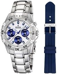 Festina Herren-Armbanduhr XL Chronograph Quarz Edelstahl F16635/1