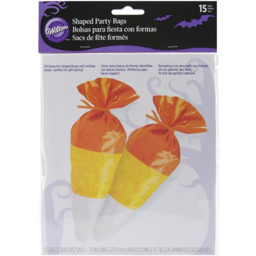 Wilton Halloween Candy Corn Shaped Treat Bags 15 Pieces