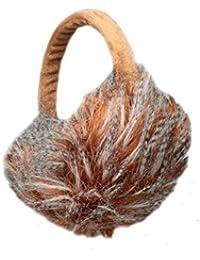 Fluffy Stripey Winter Thermal Fashion Earmuffs