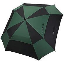G4free Paraguas cuadrado de doble toldo para golf, apertura automática, para hombre y mujer