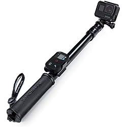 SANDMARC Pole - Black Edition : 42-103 cm Imperméable Perche (Selfie Stick) Hero 7, Osmo Action, Hero 6, Hero 5, Session, Hero 4, 3+, 3 , 2, HD