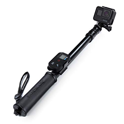 SANDMARC Pole - Black Edition : 42-103 cm Imperméable Perche (Selfie Stick) Hero 7, Osmo Action, Hero 6, Hero 5, Session, Hero 4, 3+, 3 , 2, HD