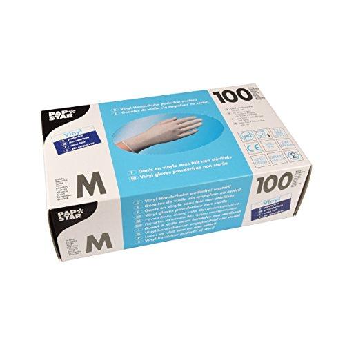 PAPSTAR Handschuhe Vinyl/12233 M natur Inh.100 - 2 Stück Schokolade Vinyl