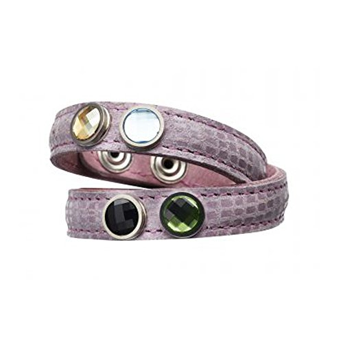 Pavo Real Armband Wave Double orchidee (Orchidee-snap)