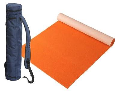 """Bausinger Yogaset: Yogamatte """"Die junge Matte"""", Florhöhe 5mm, 60x200 cm, orange, mit passender Yogatasche"""