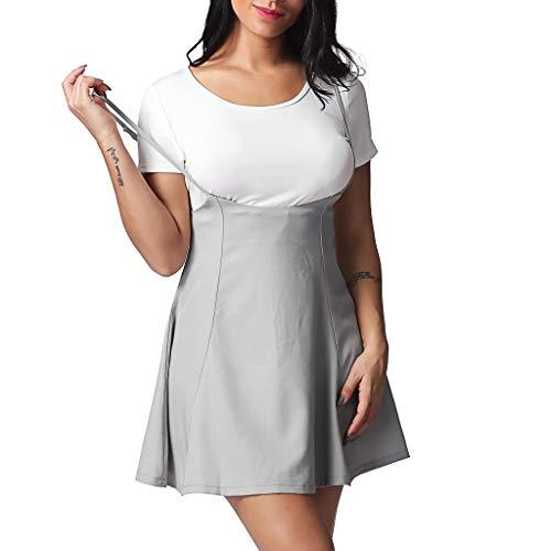 ➤Refill➤Rock Damen Mädchen Minirock Kawaii A Linie Mini Skater Rock Kleider für Damen Minikleid Skaterkleid
