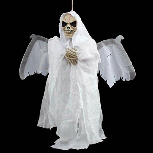 tion Sound Control Creepy Scary Animated Skeleton Geist Halloween (Weiß) (In Voller Größe Skelett Dekoration)