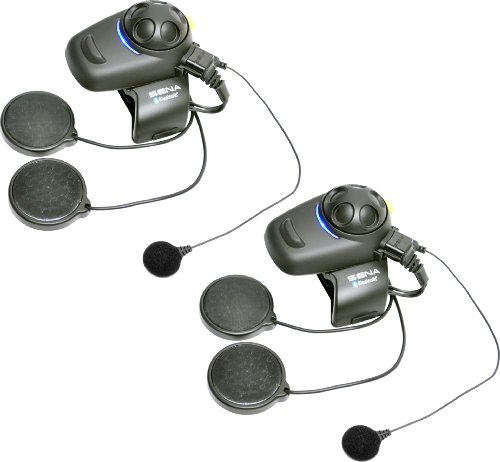 Sena SMH5D-FM-02 Bluetooth Headset/ Intercom Full Face Helmet Kit with Built-In FM Tuner for Scooters/ Motorcycles (Pack of 2)