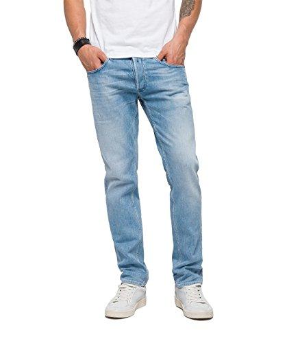 Replay Herren Slim Jeans Grover, Blau (Blue Denim 11), W38/L32