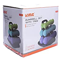 LiveUp Sports Dumbbell Set With Tree 12 Kg- LS2304