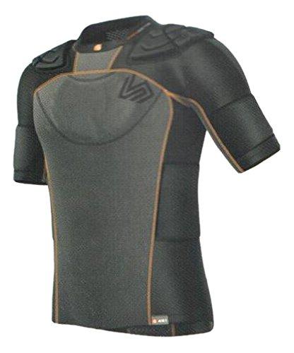 Shock Doctor Ultra Shock Men's, 7-Pad für Rugby, Schulterpolster Shirt schwarz grau/schwarz L