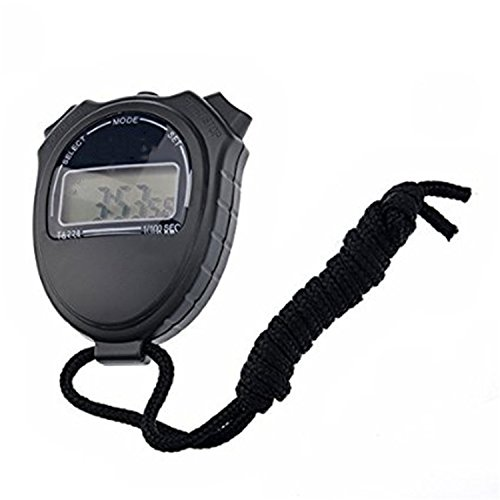 HzDirect Multi-function Electronic Sports Stopwatch Timer, Digital Timer Large Display with Date Time and Black Lanyard for Sports Referee
