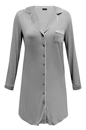 Lascana Classic Dreams Nachthemd Schlafshirt durchgeknöpft Modal Navy