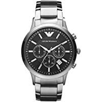 Emporio Armani AR2434 Mens Chronograph Watch (Black)