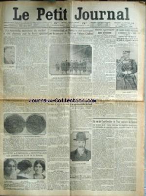 PETIT JOURNAL (LE) [No 18683] du 20/02/1914 - SUCCES POLITIQUE A SOFIA - LE GENREAL SAVOF ET M. GHENADIEFF - LA SOMNANBULE DE NANCY ET L'AFFAIRE CADIOU A BREST - LA NOUVELLE MONNAIE DE NICKEL - M. E. LINDAUER - LA FETE DU CARNAVAL A MONTPELLIER - MLLES LAROSE - SERGINE ET TRAPPE - LE PRINCE DE WIED A PARIS - EN VUE DE L'AMELIORATION DE L'ETAT SANITAIRE DE L'ARMEE - L'AUTO DU PRINCE DE GALLES