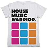 T-Shirt House Music Warrior, T-Shirt DJ Musik Elektronik, Diskothek, Partei-w - Weiß, X-Large