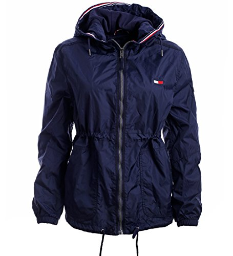 Tommy Hilfiger Damen Windbreaker Jacke Übergangsjacke Damenjacke dunkelblau Größe M