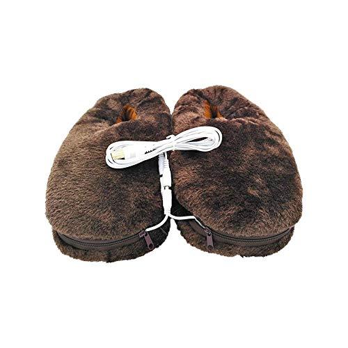 USB Calentador eléctrico Zapatilla de invierno Zapato frío Invierno Pluma Calentador eléctrico de USB Zapatilla Calentador Zapatillas de invierno Calentador USB Zapatillas Calentador Hogar Zapatillas