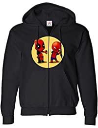 Inspired Dead spraying on Spider rival pool ZIP Hoodie plus 1 T shirt Printed Zip up hoodie