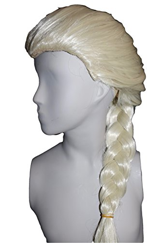 M C S La regina di ghiaccio Elsa parrucca principessa bambini costume di carnevale