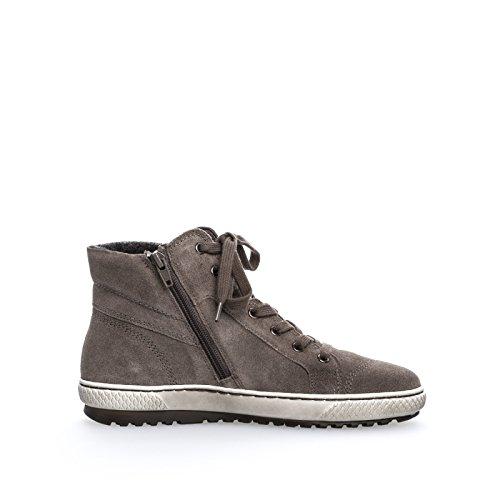 Gabor Shoes 53.754 Damen Derby Schnürhalbschuhe Grau
