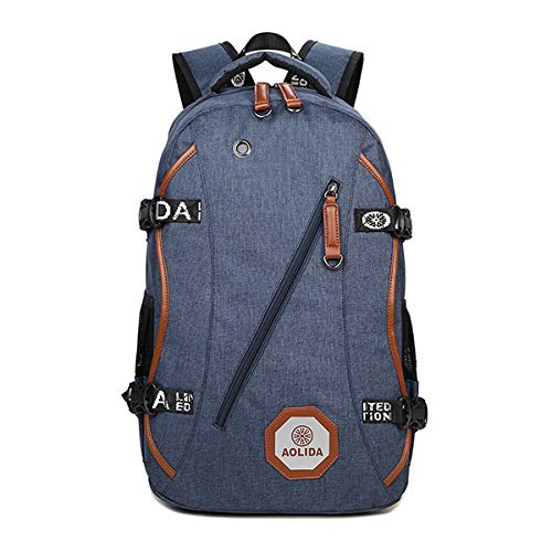 Tanchen Herren Boy 39,6 cm (15,6 Zoll) Laptop Casual Schulrucksack blau blau Boys Blase