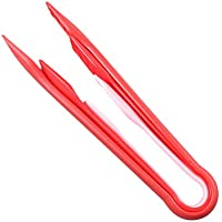 BESTONZON - Pinzas para servir hielo (3 unidades), color rojo
