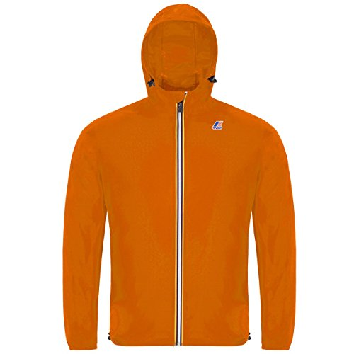 K-WAY Jacke Herren ORANGE EXTRAFLUO