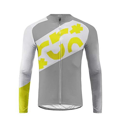 Uglyfrog Winter Fahrradtrikot Langarm Radtrikot Pro-T/Jersey/Reißverschluss/Atmungsaktiv/Reflektor