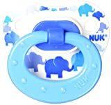 NUK Blue Bubbles and Elephants Puller Pacifier, 6-18 Months by NUK