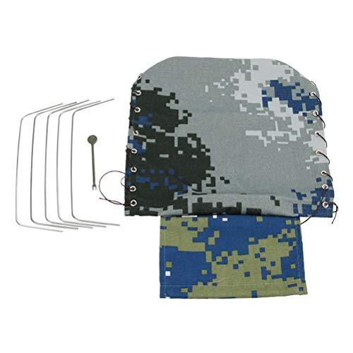 TOYANDONA Leinwand RC Auto Truck Hood Abdeckung Tuch Military Mini Truck Rock Crawler Mantel Fahrzeugteile (Air Camouflage) -