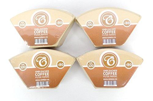 Pack de 320 filtros de papel para café - Tipo cono - Para Aromaboy de Melitta - Sin blanquear - Tamaño 100