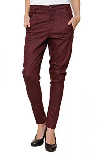 FiveUnits 5Units Damen Jeans Skinny Boyfriend Jeans JOLIE, Farbe: Bordeaux, Größe: 26 (Jeans Herz Flare)