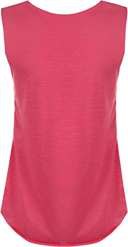 WearAll - Damen schädel muscle back ärmellose vest rundem halsausschnitt Top - 2 Farben - Größe 36-42 Cerise