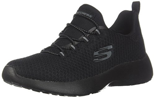 Skechers Dynamight Womens Slip On Sneakers Black 11 (Arch Low Womens)