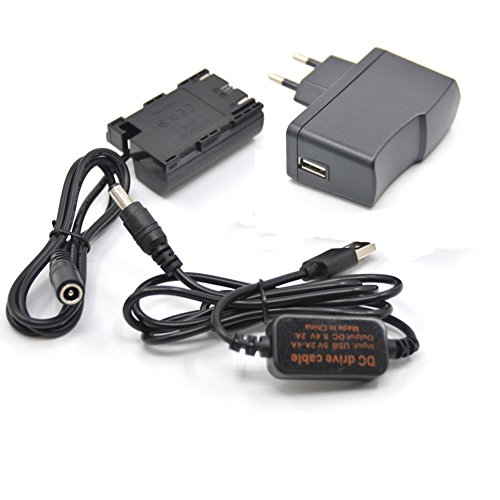 5V USB Adapter Kit + 5V3A Ladegerät Kabel DC 8.4V ACK-E6 + DR-E6 LP-E6 LP E6 Virtuelle Batterie für Canon EOS 5D Mark II III 5D2 5D3 6D 7D - Power Battery Kit