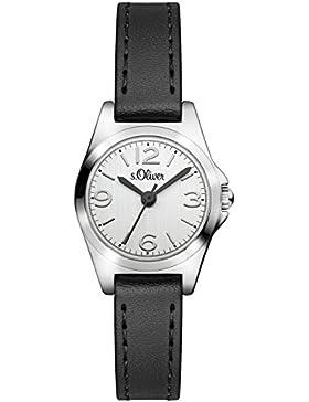 s.Oliver Damen-Armbanduhr Analog Quarz Leder SO-3124-LQ