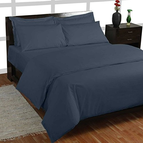 Homescapes – Taie d'oreiller avec volant Bleu Marine 50 x 90 cm – 100% coton – 200 fils
