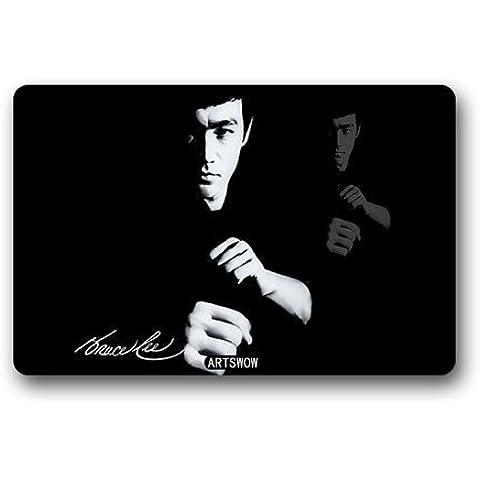ARTSWOW Bruce Lee 18(L) X 30(W) lavabile per interni/esterni/doccia/bagno zerbino, color-6, 30X18