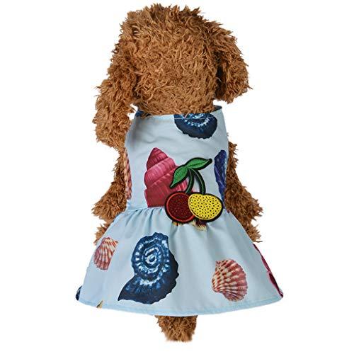Xmiral Tutu Abiti per Cani di Piccola Taglia Abiti Cane, Principessa della Moda Dolce Cucciolo Cane Pet Vestito Gonna Cani Cappotto dell'animale Domestico Abbigliamento Costume XS Azzurro