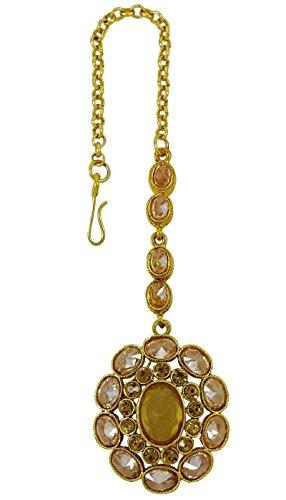 Bollywood indisches Haar Accessoire traditionelle Maang Tikka Schmuck (Indische Haar Accessoires)