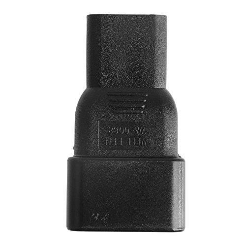 BIlinli IEC 320 3-Pin C13 Buchse auf C20 Stecker Adapter Konverter für Wechselstromversorgung -