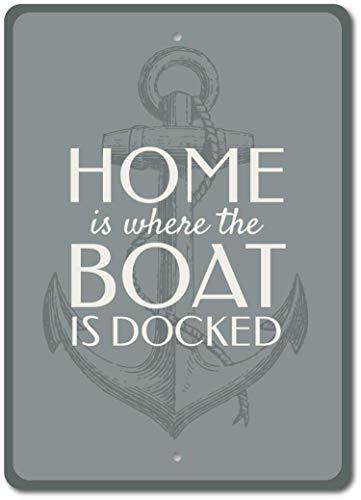 Blechschild Bootsschild Bootsschild Hausschild Bootsschild Anker Anker Dekor Bootsbesitzer Geschenk Familie Boot Schild Boot Dekor Aluminium Wanddeko Blechschild Weihnachten Geschenk (Metall-buchstaben-wand-dekor)