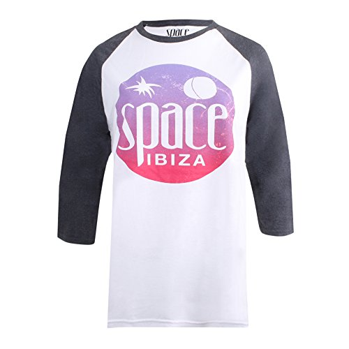 SPACE Damen T-Shirt White (White/Dark Grey)