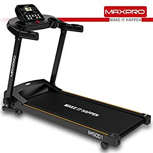 MAXPRO IM5001 1.5Hp (3 Hp Peak) Folding Treadmill, Electric Motorized Exercise Machine for Running & Walking [Free Installation Assistance]