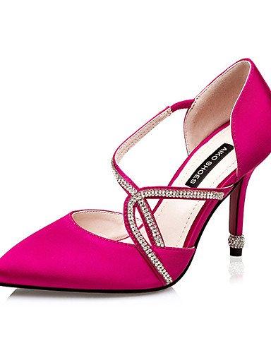 WSS 2016 Chaussures Femme-Décontracté-Noir / Rose / Rouge / Argent / Gris-Talon Aiguille-Talons-Talons-Soie black-us7.5 / eu38 / uk5.5 / cn38