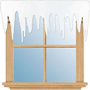 102cm décoration de fenêtre - Stalactites de glace - Merveilleux paysage d'hiver - Noël