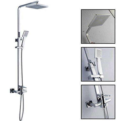 GuoEY Home Badezimmer Shower-Mounted Multi-Function-System, drei Titel tippen, Gemeinkosten und Dusche Kombination, Chrom