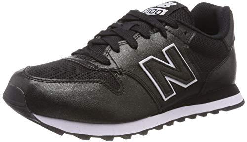 New Balance Damen 500 Sneaker, Schwarz (Black/Black Metallic Mbb), 40.5 EU